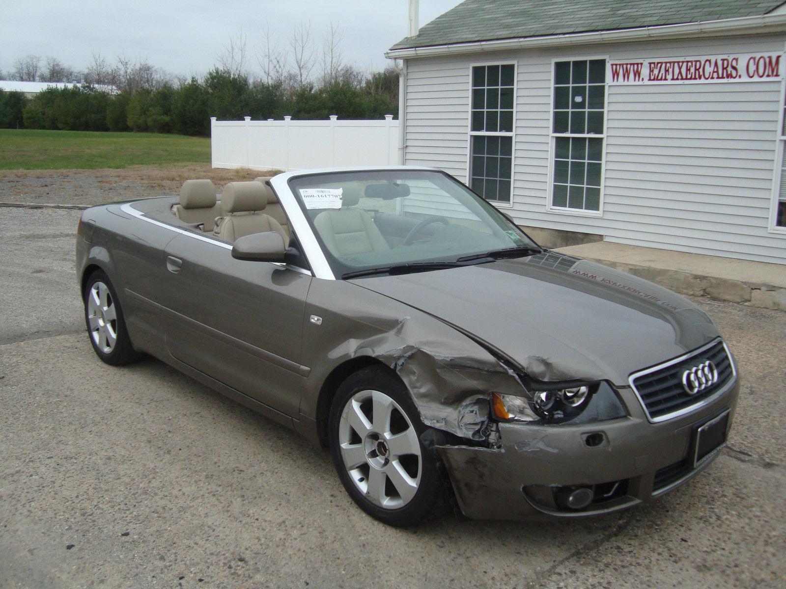 2006 audi a4 1 8 turbo convertible salvage for sale. Black Bedroom Furniture Sets. Home Design Ideas
