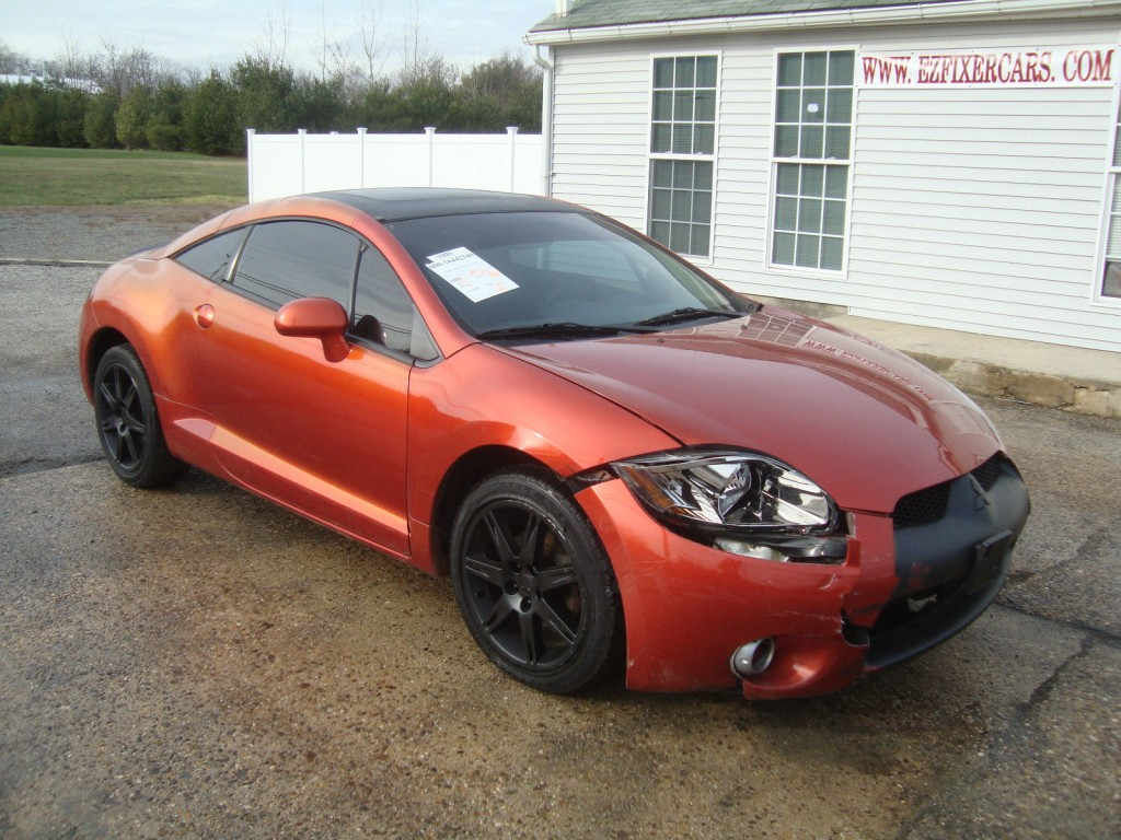 2006 mitsubishi eclipse gt v6 automatic leather salvage rebuildable. Black Bedroom Furniture Sets. Home Design Ideas