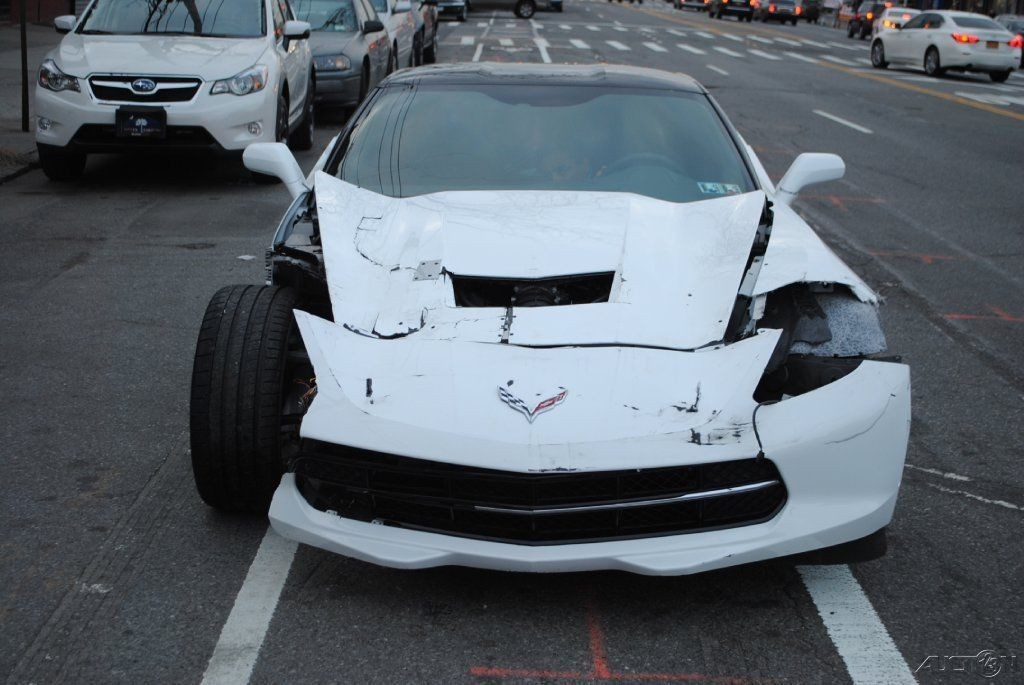 2015 chevrolet corvette stingray c7 white wrecked wrecked for sale. Cars Review. Best American Auto & Cars Review