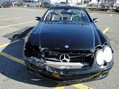 2004 Mercedes Benz SL500 V8 RWD Convertible Repairable Rebuilder for sale