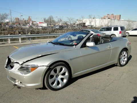2005 BMW 645 Ci 4.4L V8 Convertible Repairable Rebuild for sale
