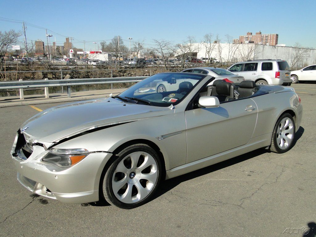 2005 bmw 645 ci 4 4l v8 convertible repairable rebuild for sale. Black Bedroom Furniture Sets. Home Design Ideas