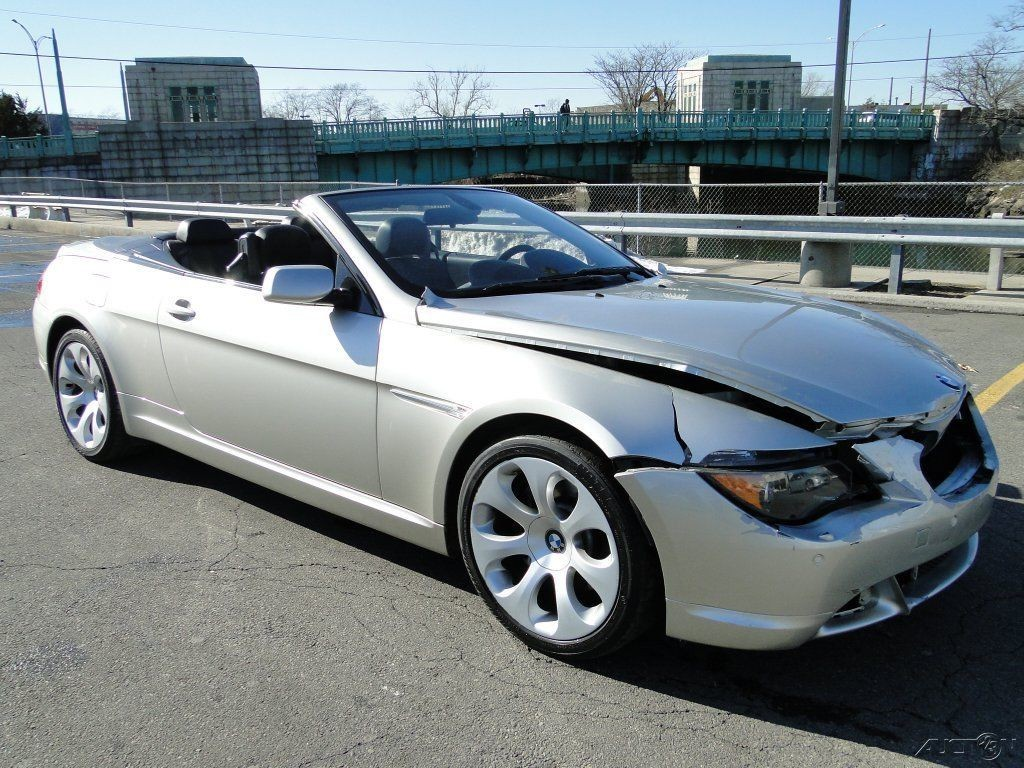 2005 Bmw 645 Ci 4 4l V8 Convertible Repairable Rebuild For