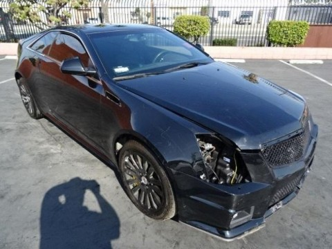 2014 Cadillac CTS Coupe Standard Wrecked for sale