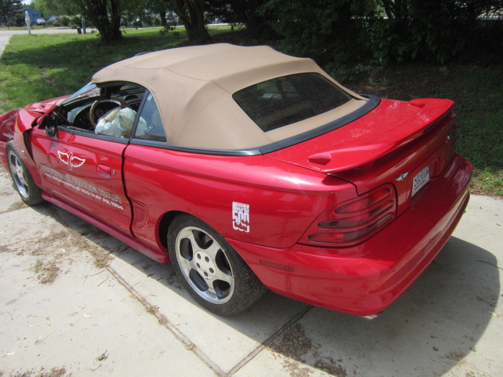 Wrecked Cars For Sale >> 1994 Ford Mustang Cobra Convertible Indy Pace Car for Repair or Parts for sale