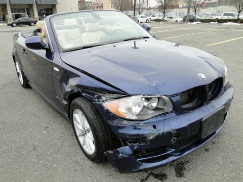 2011 BMW 128 i RWD Convertible Repairable for sale