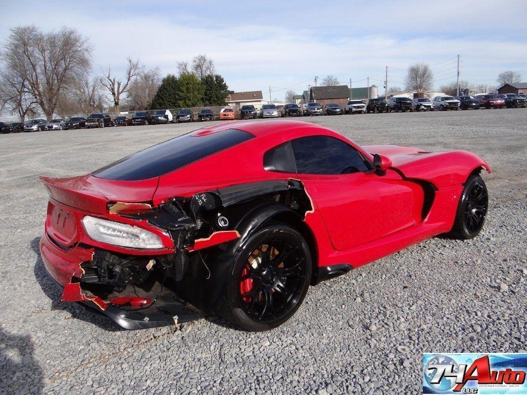2013 Dodge Viper Srt V10 Wrecked Project For Sale