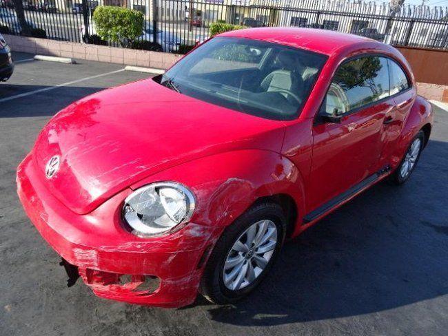 volkswagen beetle   salvage wrecked  sale