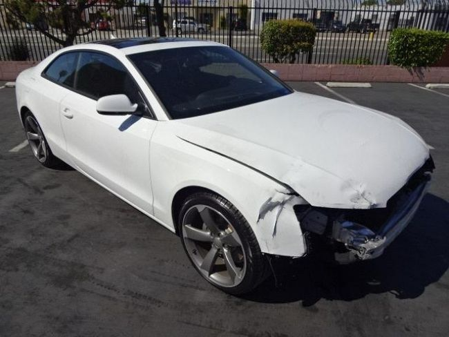 2011 audi a5 coupe 2 0t quattro tiptronic salvage wrecked for sale. Black Bedroom Furniture Sets. Home Design Ideas