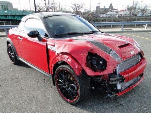 2013 Mini Coupe Cooper S Turbo Repairable for sale