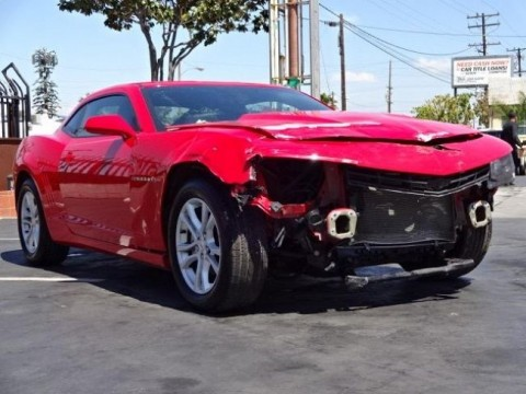2015 Chevrolet Camaro LT Damaged Repairable for sale