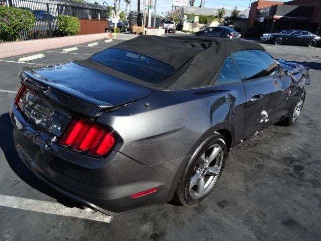 2015 ford mustang v6 convertible wrecked project for sale. Black Bedroom Furniture Sets. Home Design Ideas