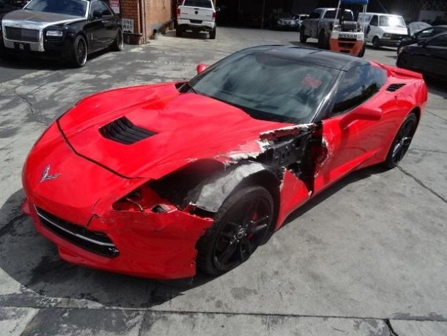 2014 Chevrolet Corvette Stingray Z51 Damaged Salvage