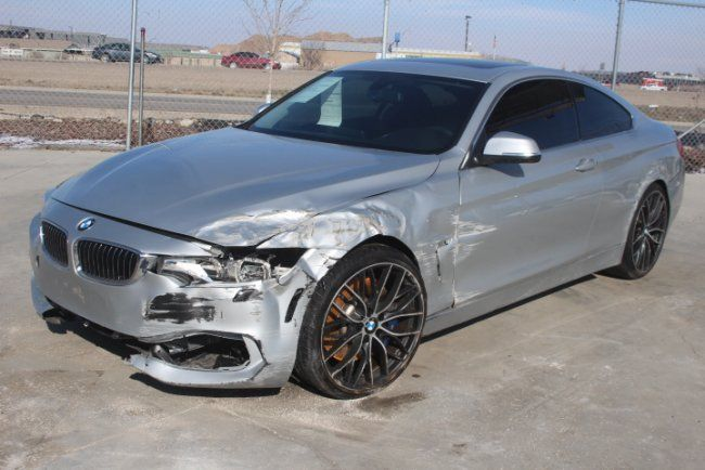 2014 bmw 4 series 435i xdrive wrecked salvage project for sale. Black Bedroom Furniture Sets. Home Design Ideas