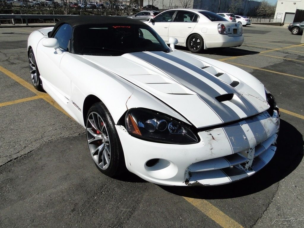 Damaged 2010 Dodge Viper SRT10 Repairable For Sale