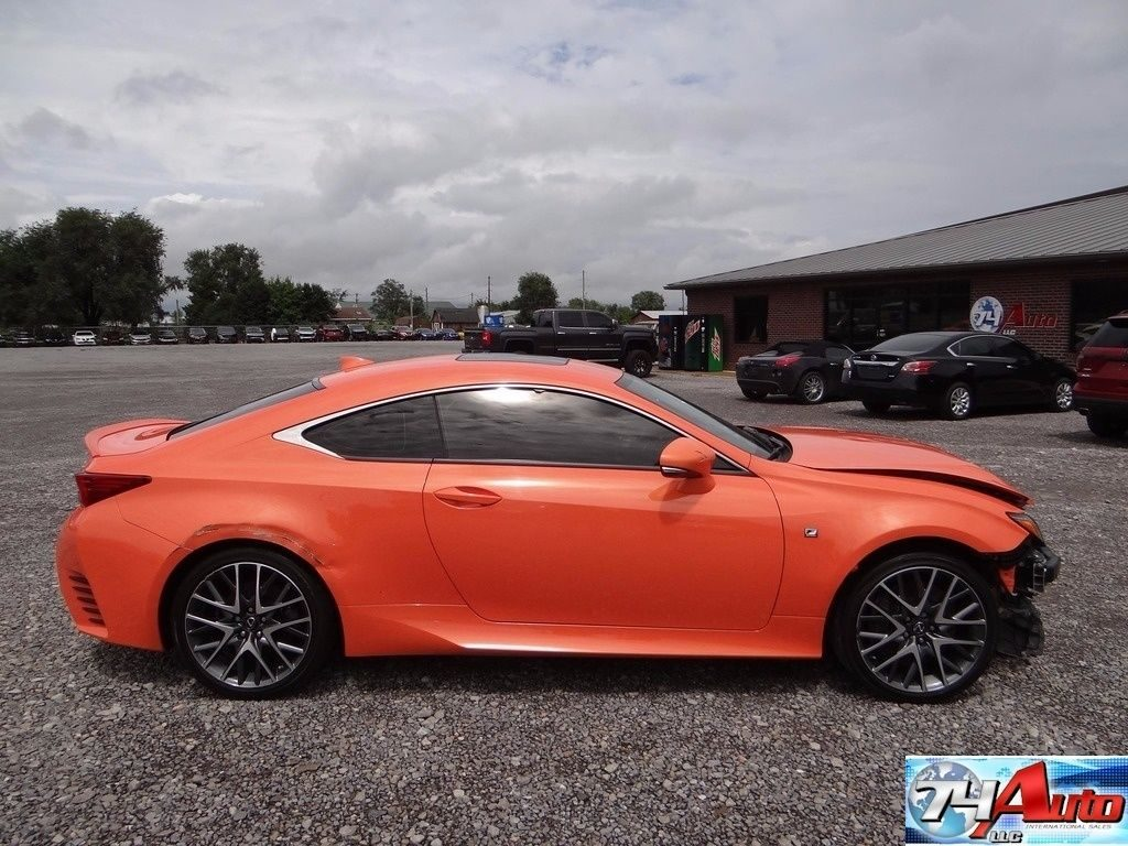 Front damage 2015 Lexus RC repairable