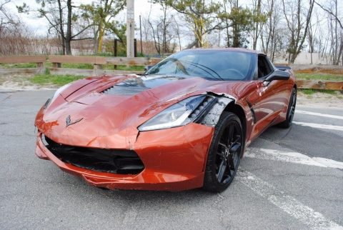 Light damage 2015 Chevrolet Corvette Stingray Z51 repairable for sale