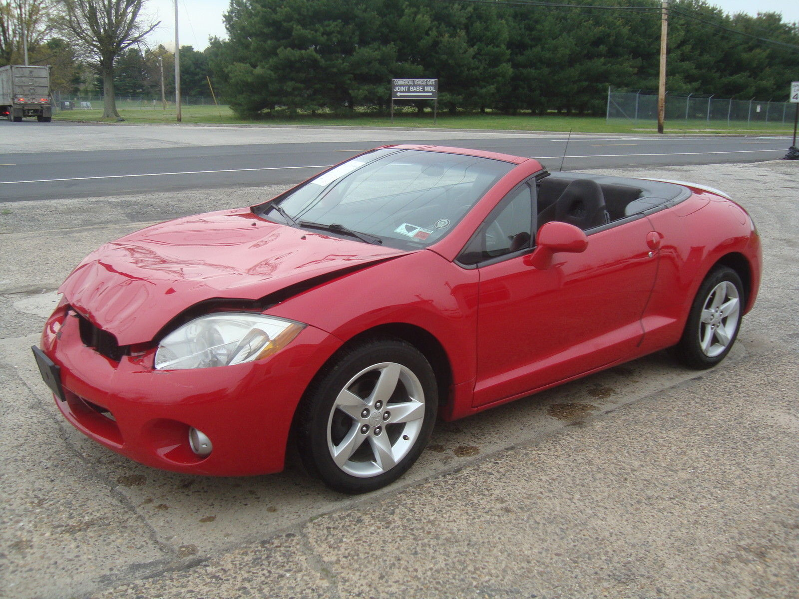 lightly damaged 2007 mitsubishi eclipse spyder gs convertible rebuildable repairable for sale. Black Bedroom Furniture Sets. Home Design Ideas