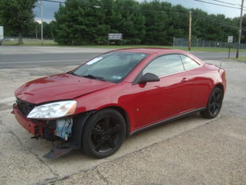 Lightly damaged 2007 Pontiac G6 GT Convertible Rebuildable Repairable for sale