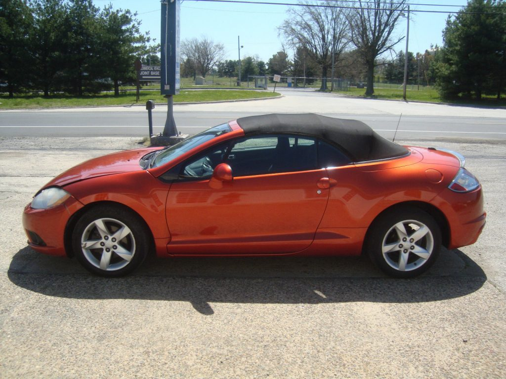 lightly damaged 2009 mitsubishi eclipse spyder gs convertible rebuildable repairable for sale. Black Bedroom Furniture Sets. Home Design Ideas