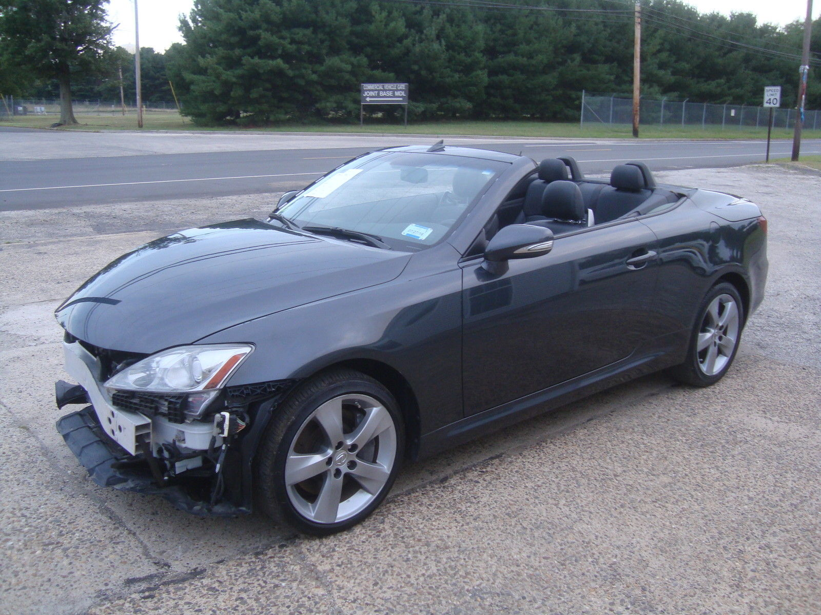 wrecked 2010 lexus is is350 convertible rebuildable for sale. Black Bedroom Furniture Sets. Home Design Ideas