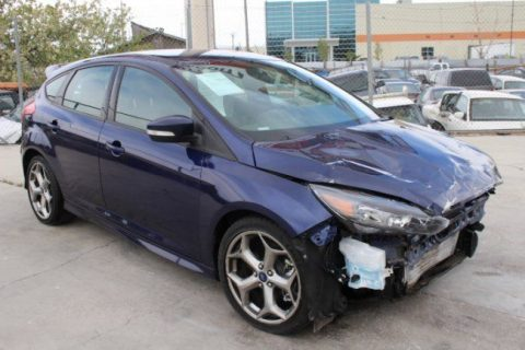 Front damage 2016 Ford Focus ST repairable for sale