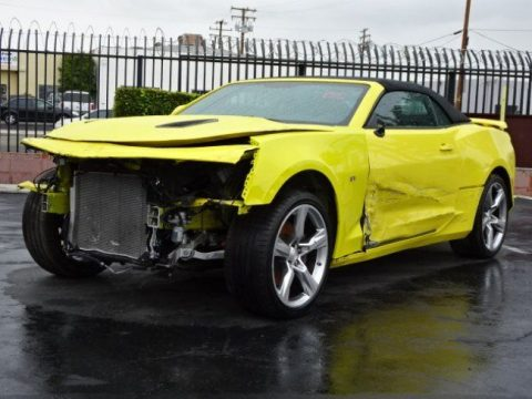 Front damage 2017 Chevrolet Camaro Convertible SS repairable for sale