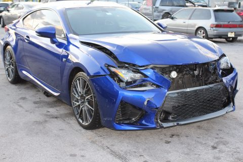 Front hit 2015 Lexus RC F repairable for sale