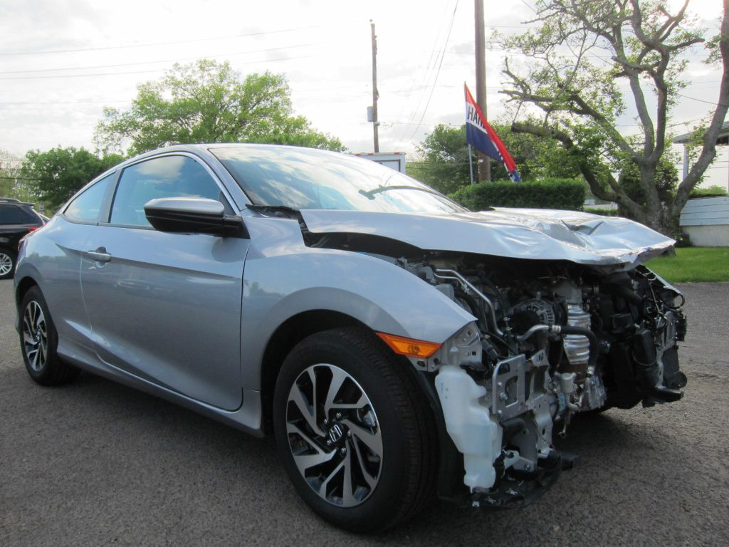 front hit 2016 honda civic lx coupe repairable rebuildable for sale. Black Bedroom Furniture Sets. Home Design Ideas