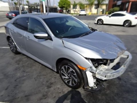 Front hit 2017 Honda Civic LX Hatchback repairable for sale