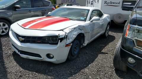 Left side damage 2010 Chevrolet Camaro LT Coupe repairable for sale