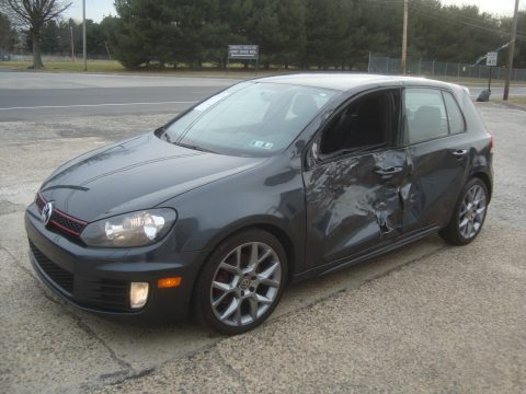 Left side damage 2014 Volkswagen Golf GTI Rebuildable Repairable for sale