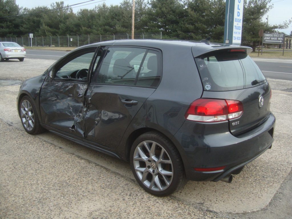 Left side damage 2014 Volkswagen Golf GTI Rebuildable Repairable