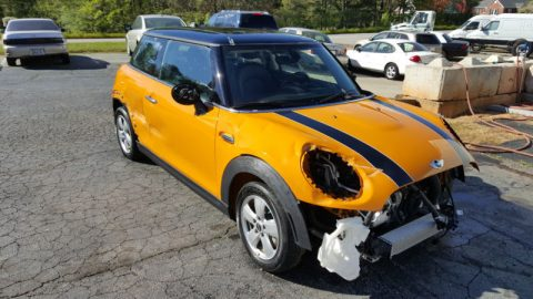 Removed airbags 2014 Mini Cooper repairable for sale