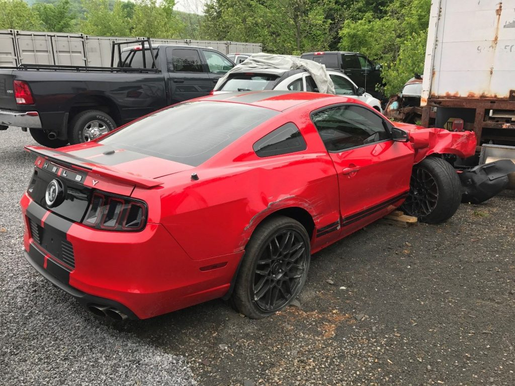 Right Wheel Damage Ford Mustang Shelby Gt Repairable For Sale X on Ford Mustang Shelby Gt500 Red Stripe