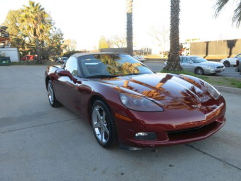 Left side damage 2007 Chevrolet Corvette convertible repairable for sale