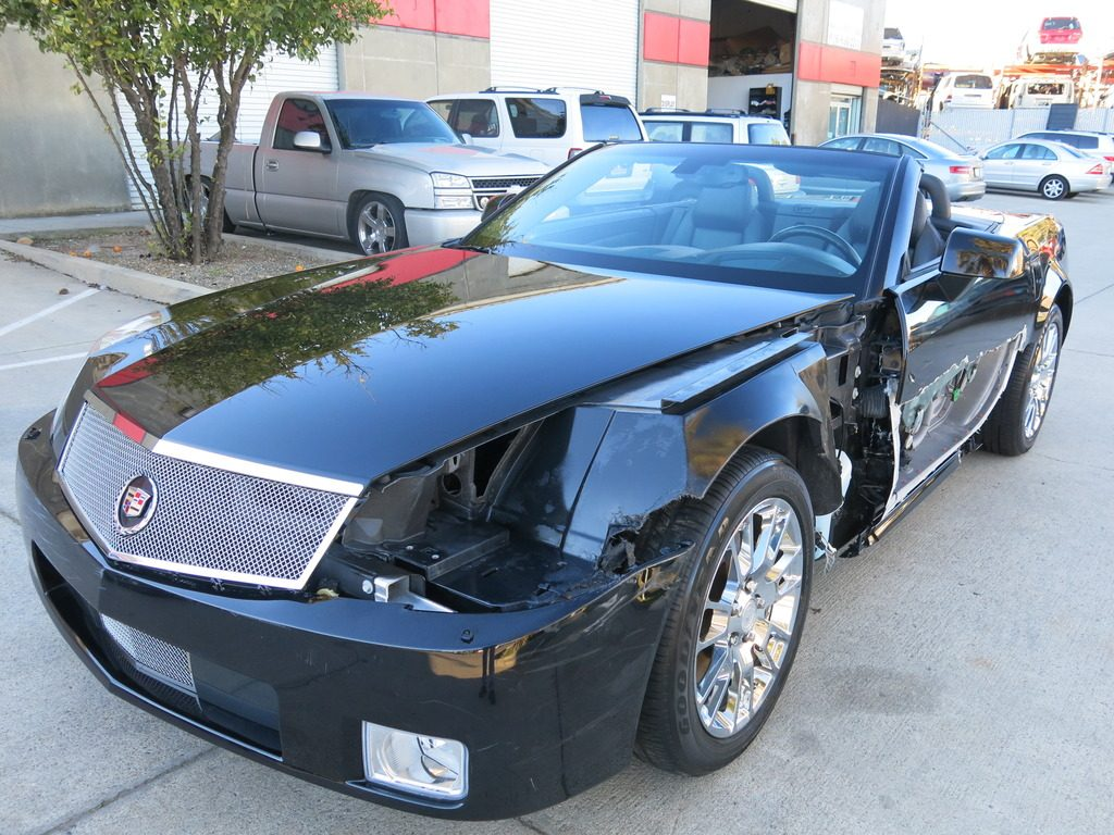 low mileage 2008 cadillac xlr xlr convertible repairable for sale. Black Bedroom Furniture Sets. Home Design Ideas