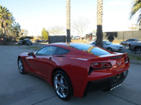 Low miles 2015 Chevrolet Corvette Coupe repairable for sale