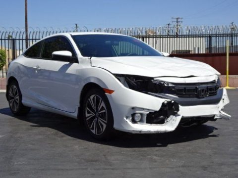 Low miles 2017 Honda Civic EX T repairable for sale