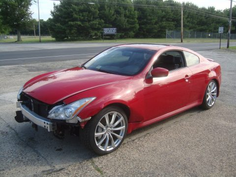 Easily repairable 2008 Infiniti G G37 Coupe Rebuildable for sale