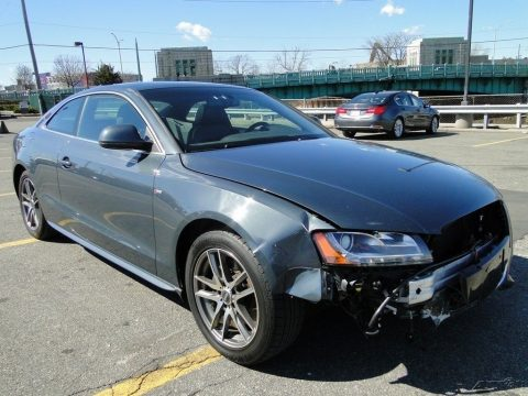 Equipped 2009 Audi A5 S Line Quattro AWD Coupe 6M repairable for sale
