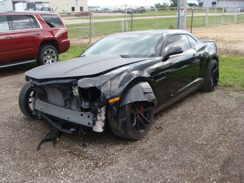 Frontal damage 2013 Chevrolet Camaro SS Coupe 2 Door repairable for sale