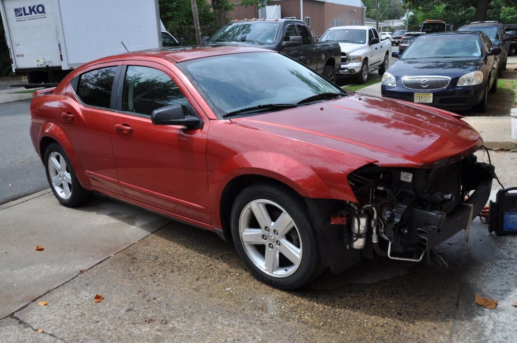 minor accident 2008 dodge avenger repairable rebuildable for sale. Black Bedroom Furniture Sets. Home Design Ideas