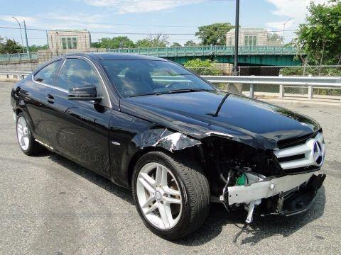 Needs bumpers 2012 Mercedes Benz C Class C 350 repairable for sale
