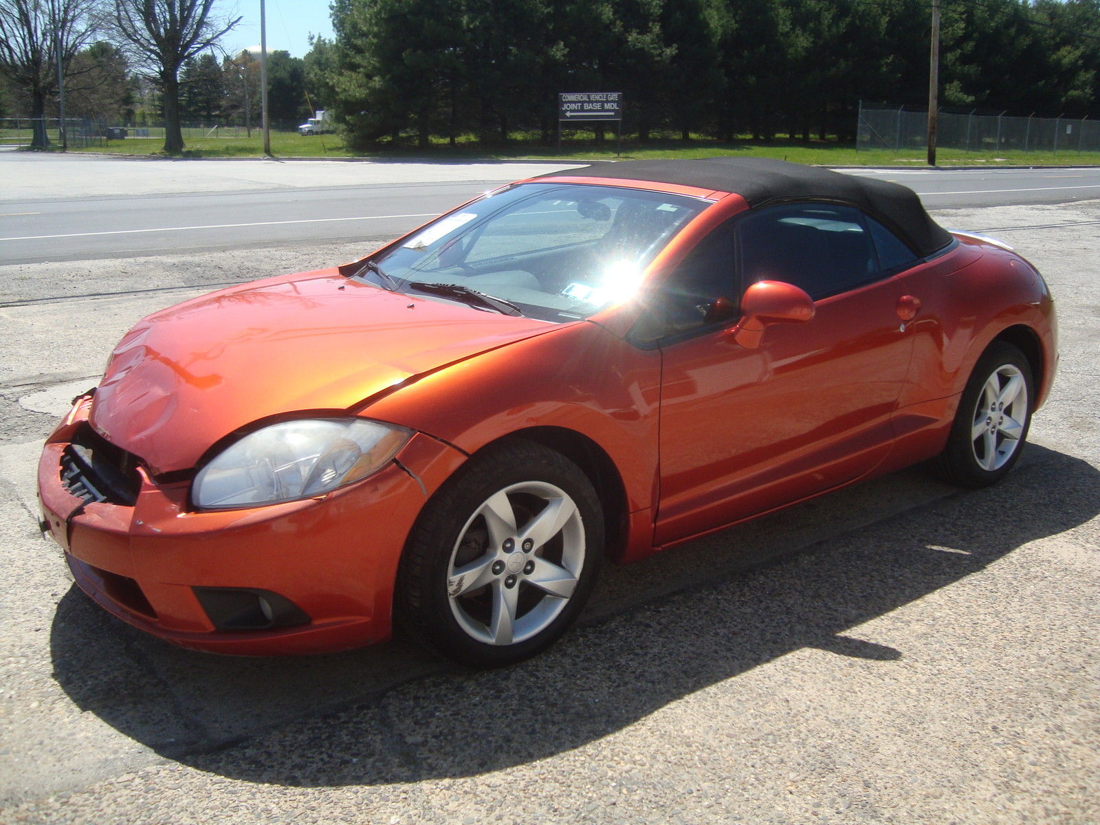 No leaks 2009 Mitsubishi Eclipse Spyder GS Convertible Rebuildable for sale