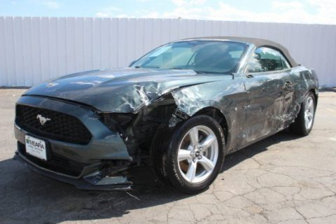 V6 engine 2016 Ford Mustang Convertible repairable for sale