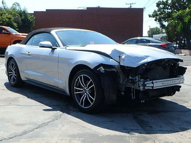 Front Damage 2017 Ford Mustang Ecoboost Premium Convertible Repairable For Sale