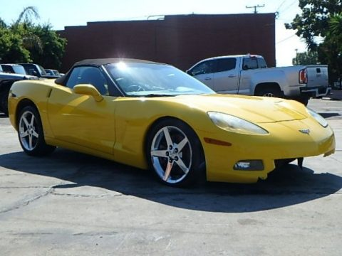 Low mileage 2007 Chevrolet Corvette Convertible repairable for sale