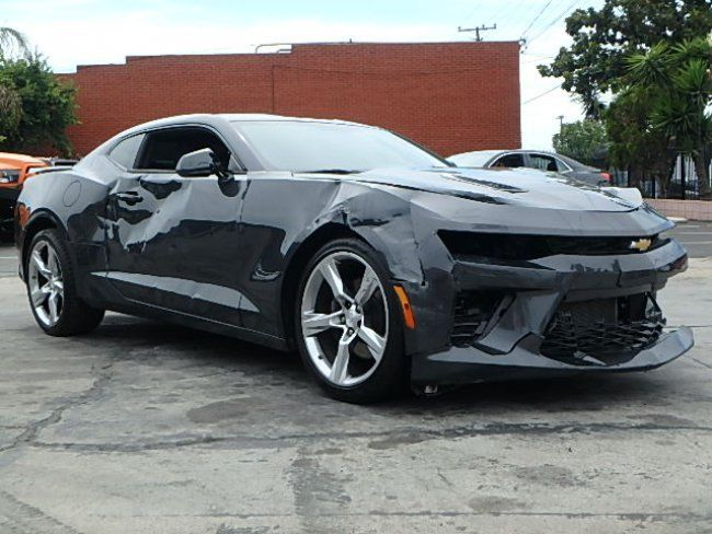 low mileage 2016 chevrolet camaro ss coupe repairable for sale. Black Bedroom Furniture Sets. Home Design Ideas