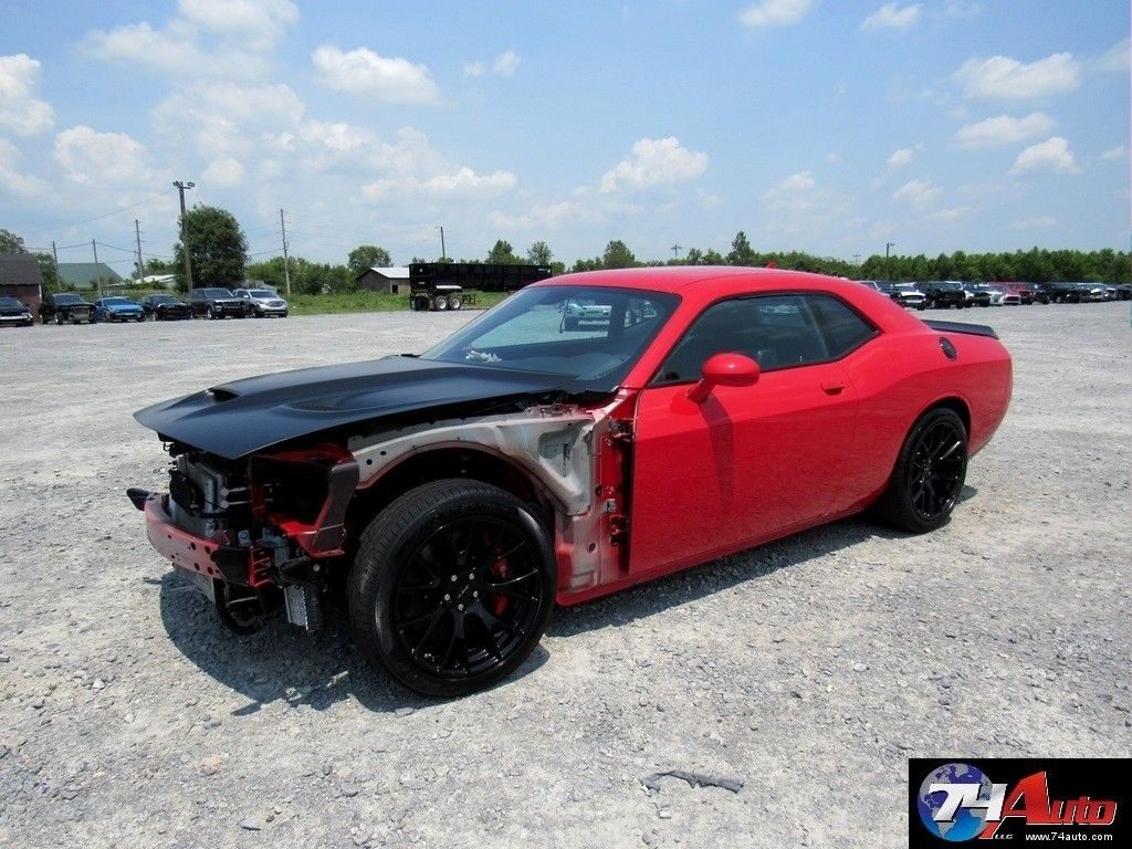 undamaged frame 2016 dodge challenger srt hellcat repairable for sale. Black Bedroom Furniture Sets. Home Design Ideas